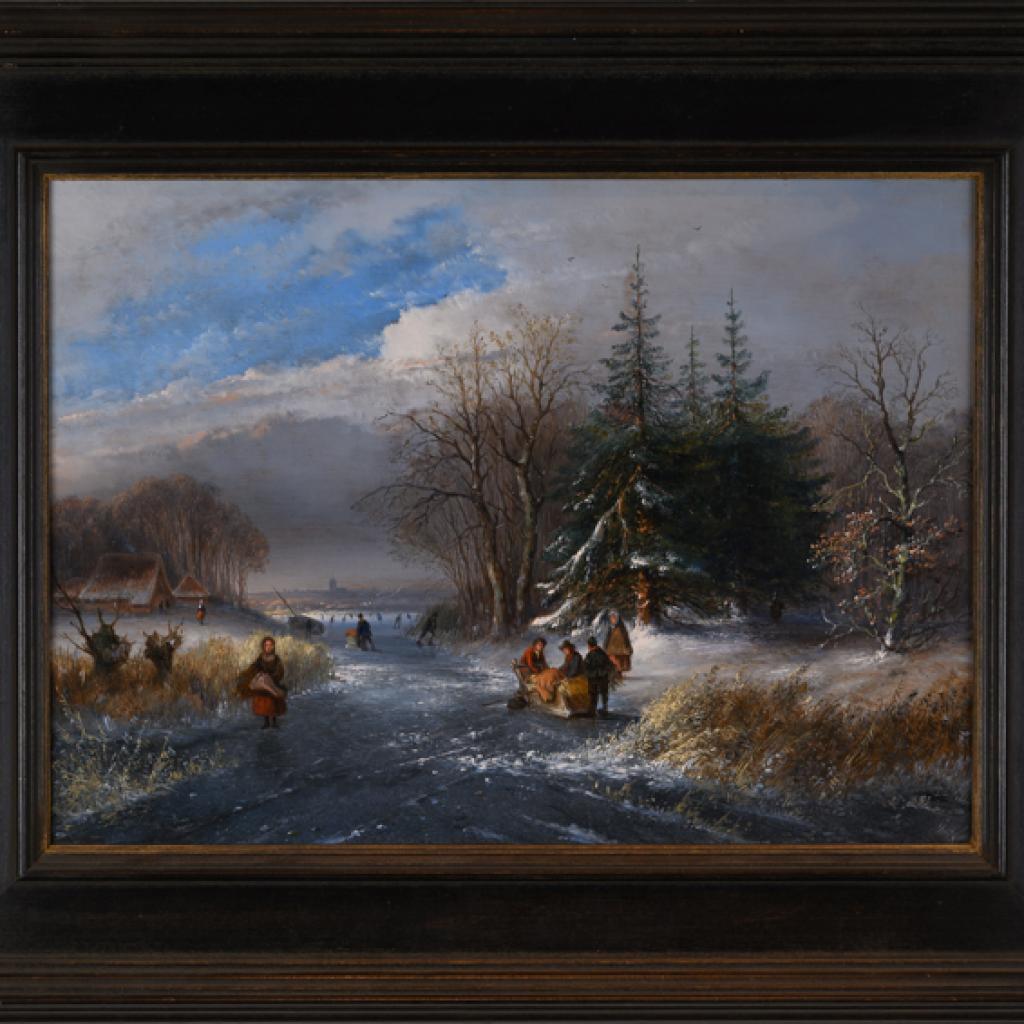 winterlandschap-met-schaatsers-duwslee-en-houtsprokkelaarster